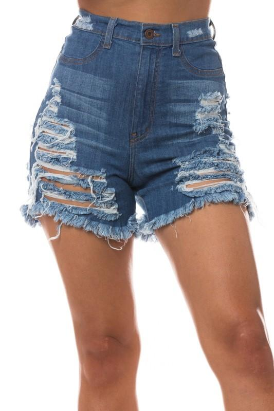 Super Destroyed Frayed Shorts