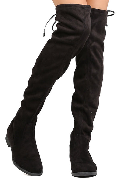 Thigh High Chunky Sole Boot with Stretch