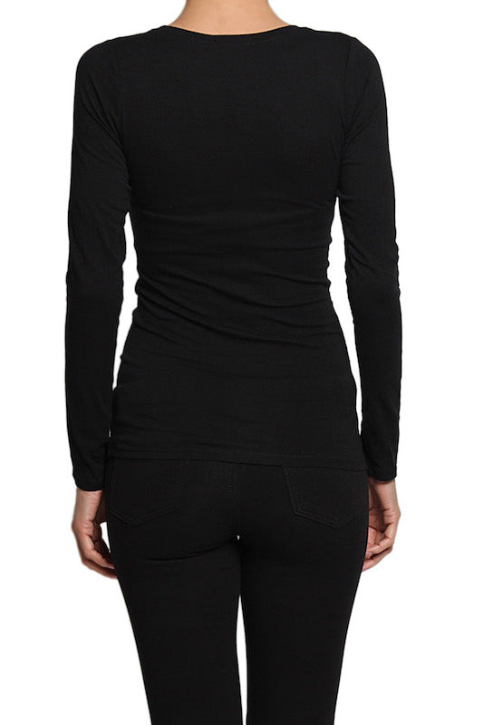 Basic Crew Neck Long Sleeve Top