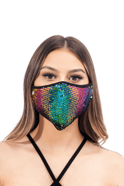 Multicolor Sequin Mask