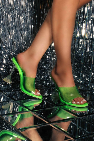 Clear Heel with Clear Strap