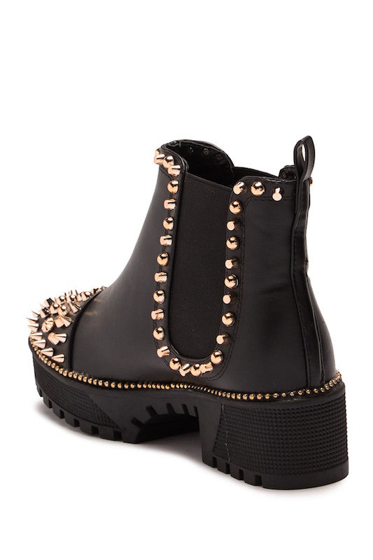 Chunky Heel Bootie with Studs
