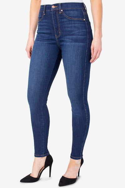"Blue Skinny 29"" Ultra High Rise Jean with Faux Pockets"