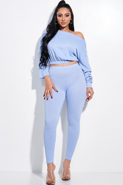 Solid Renaissance Slouchy Top and Legging Set