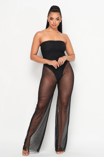 Mesh Tube Jumpsuit