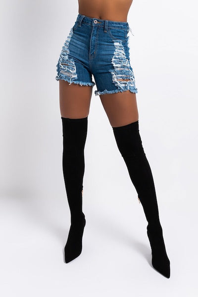 Super Destroyed Frayed Short