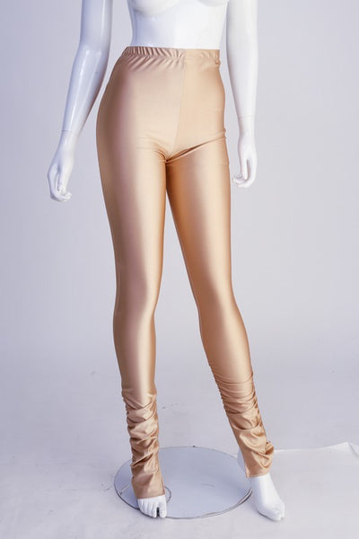 Ankle Ruched Shiny Leggings