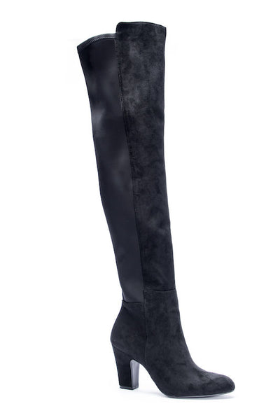 Tall Suede Boot with Elastic