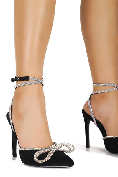 Rhinestone Detail Sandal With Heel