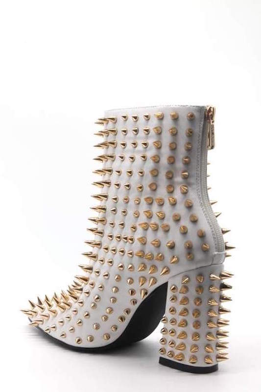 Ankle Bootie with Spikes