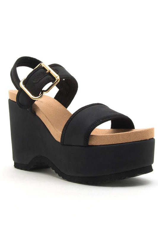 Ankle Strap Platform Wedge