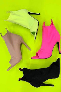 Bouncy Neon Bootie