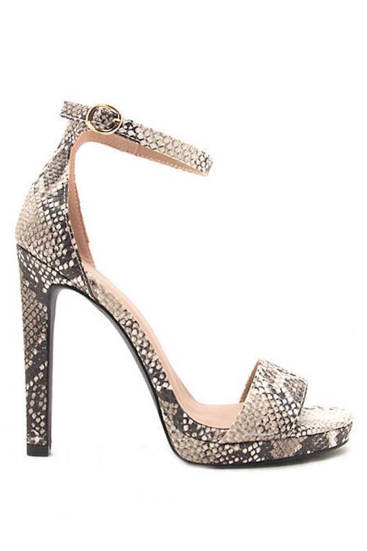 One Band Ankle Strap Sandal Heel