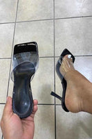 Clear Strap Sandal with Heel