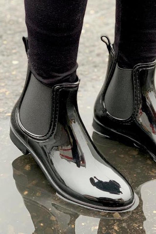 Black Short Rain boot