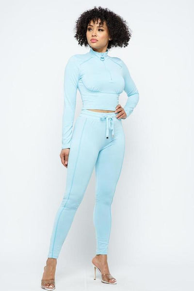 Front Zipper Track Suit