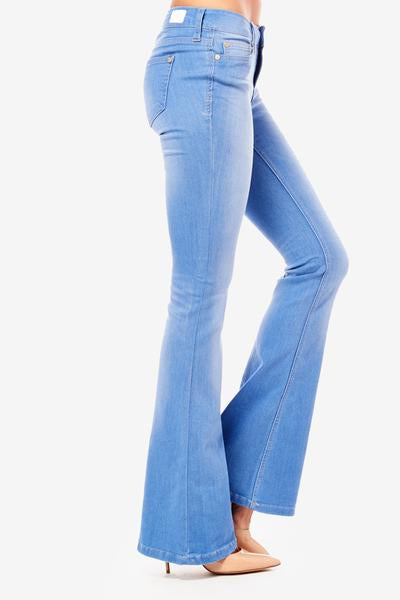 Mid Rise Bell Bottom Jeans