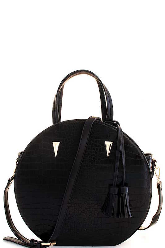 Crocodile Round Handbag