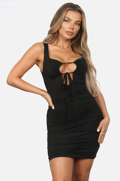 Tank Bodycon Dress with Keyhole