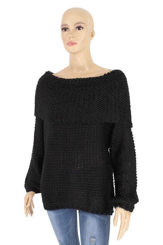 Off Shoulder Comfy Sweater