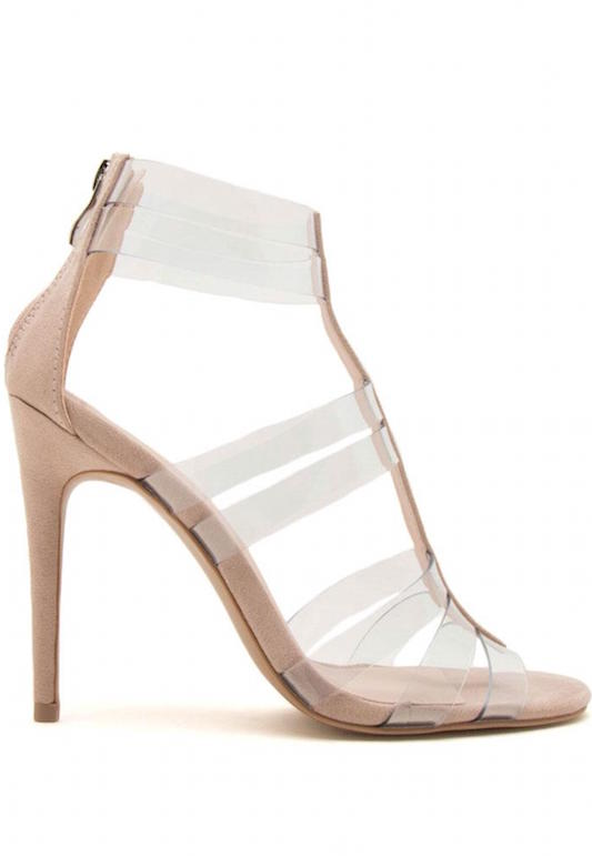 Clear Strappy Heel
