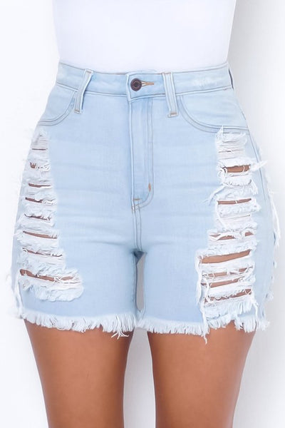 Destroyed Frayed Short