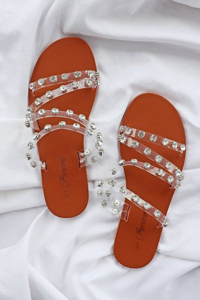 Clear Stylish Strappy Sandal