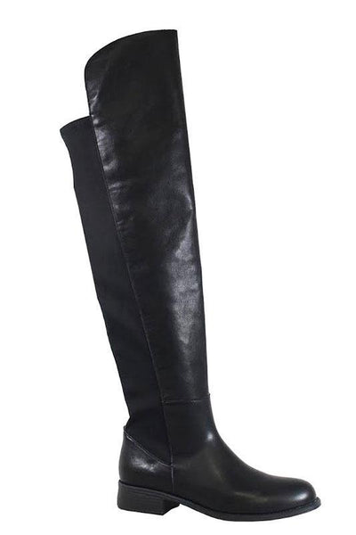 PU Leather Boot with Stretch