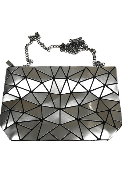 Pu Tile Bag with Chain