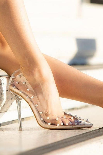 Studded Pointy Toe Pump