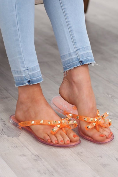 Jelly Flip Flop with Bow