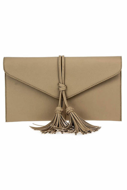 Clutch with Fringe Tassle
