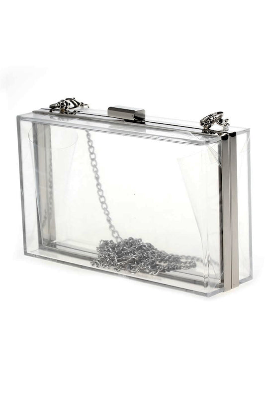 Clear Square Clutch