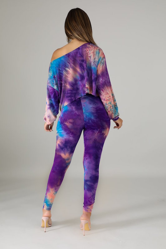 Chic Tie-Dye Long Sleeve Set