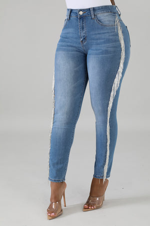 Fringe Denim Jean