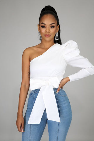 Puff One Shoulder Top