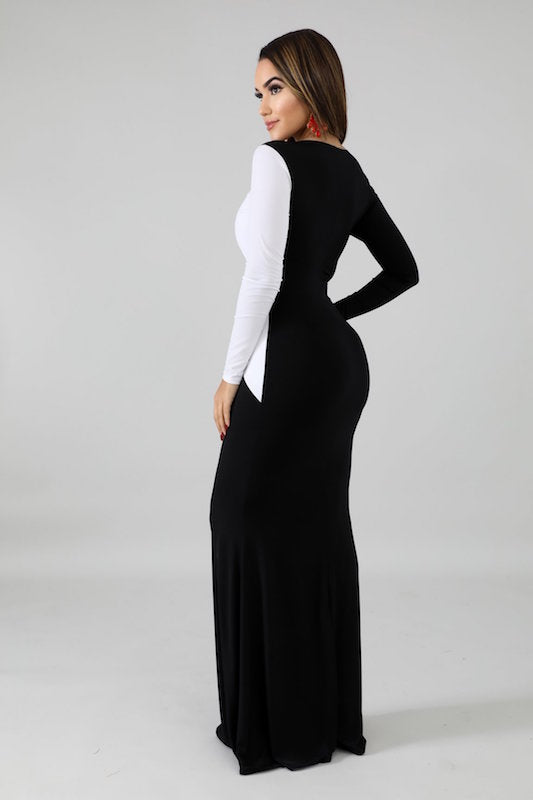 Yin-Yang Long Sleeve Dress
