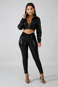Sequin Crop Jacket