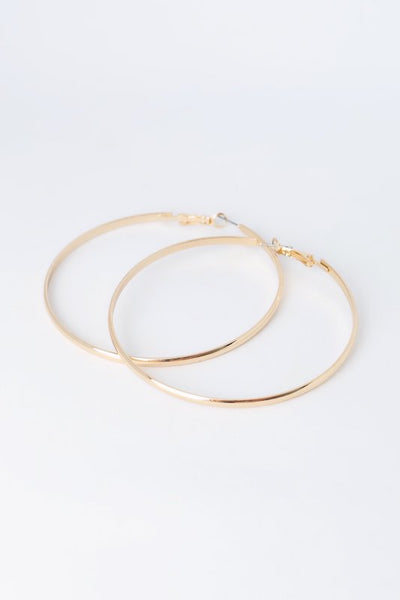 Plain Gold Hoop Earring