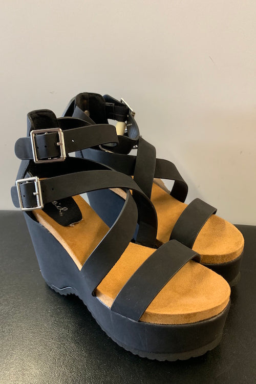 Strappy Wedge Sandal