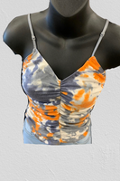Tie Dye Shirring Top