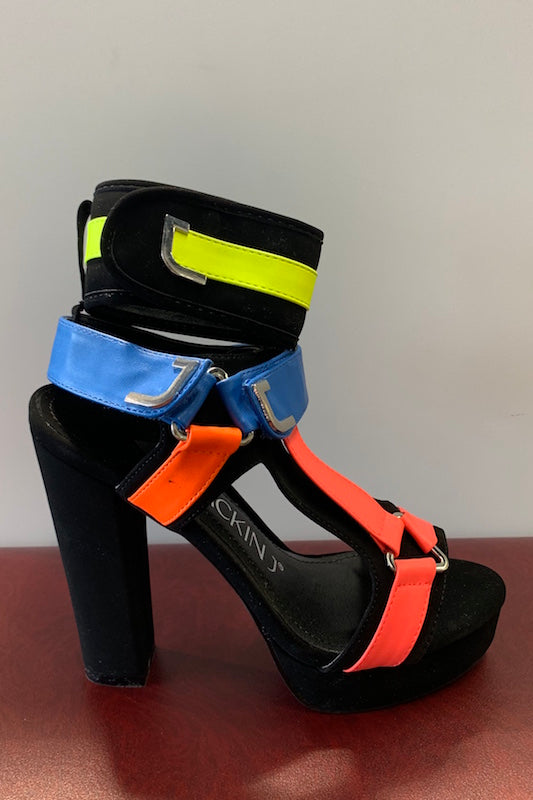 Platfrom Thick Multicolor Heel