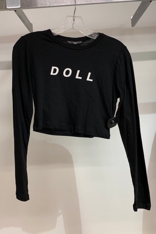 'DOLL' Long Sleeve Crop Top