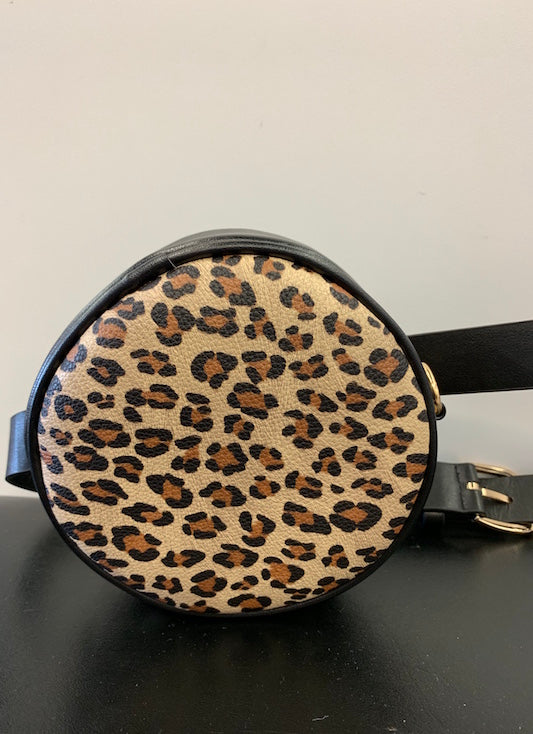 Round Leopard Fanny Pack