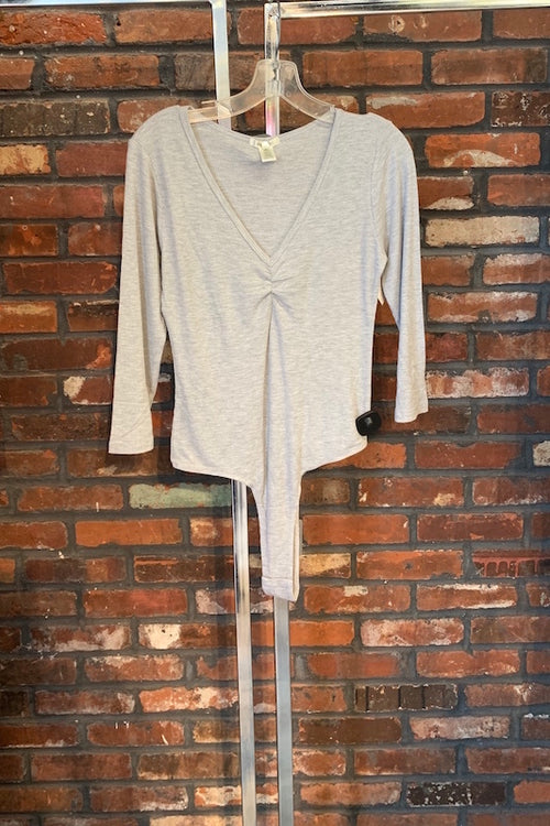 V-Neck 3/4 Sleeve Bodysuit