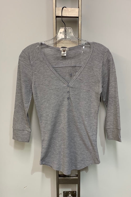 3/4 Sleeve V Neck Top