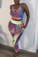 Tie Dye Sports Bra & Tights Set