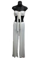 Tie Front Top & Wide Leg Pant Set
