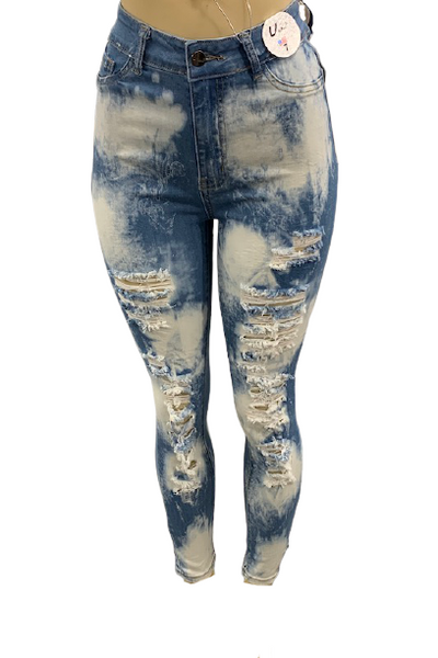 Destroyed Bleached Jeans