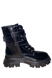 2 Buckle Lace Up PU Boots